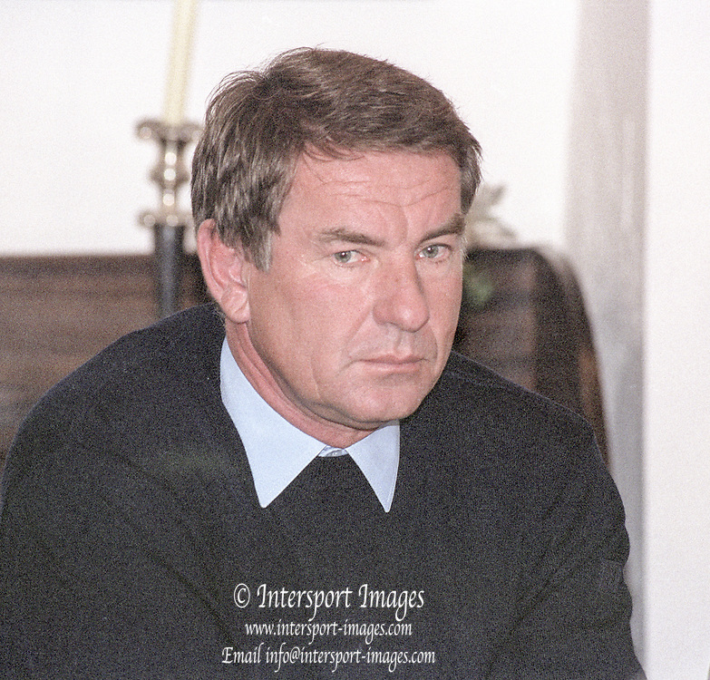 Henley. England. UK. <br /> GBR M2- Coach, Jurgan GROBLER.  at the  British International Rowing Office, <br /> Crew Announcement for FISA Rowing World  Cup I, Princeton. NJ. USA. 19.04.2001<br /> <br /> [Mandatory Credit: Peter SPURRIER/Intersport Images] 20010419 BIRO Press Conference Leander Club, Henley. UK