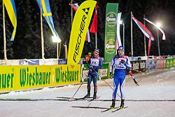 18.01.2019, Biathlonzentrum, Obertilliach, AUT, Dolomitenlauf, Dolomitensprint, im Bild v.l. Niklas Liederer (AUT), Steafan Zelger (ITA) // during the sprint competition of the Dolomitenlauf at the Biathlonzentrum in Obertilliach, Austria on 2019/01/18. EXPA Pictures © 2019, PhotoCredit: EXPA/ Dominik Angerer