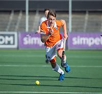 AMSTELVEEN - Yannick van der Drift (Bldaal)   tijdens de oefenwedstrijd tussen Amsterdam en Bloemendaal heren.   COPYRIGHT  KOEN SUYK