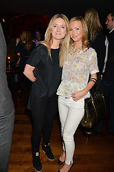 Left to right, ARABELLA LLEWELLYN and ALEXANDRA McCREADY at the opening party of MODE nightclub, 12 Acklam Road, London on 4th April 2014.