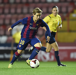 FC Barcelona's Sonia Bermudez - Photo mandatory by-line: Paul Knight/JMP - Mobile: 07966 386802 - 13/11/2014 - SPORT - Football - Bristol - Ashton Gate Stadium - Bristol Academy v FC Barcelona - UEFA Women's Champions League