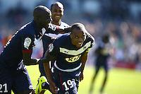 Joie Nicolas Maurice Belay / Cedric Yambere - 05.04.2015 - Bordeaux / Lens - 31eme journee de Ligue 1<br />Photo : Manuel Blondeau / Icon Sport