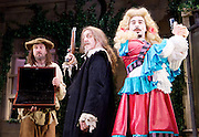 The Miser <br /> by Moliere<br /> adapted by Sean Foley and Phil Porter <br /> at Garrick Theatre, London, Great Britain <br /> Press photocall <br /> 6th March 2017 <br /> Lee Mack as Mitre Jacques <br /> Griff Rhys Jones as Harpagon <br /> Ryan Gage as Cleante <br /> <br /> <br /> Photograph by Elliott Franks <br /> Image licensed to Elliott Franks Photography Services