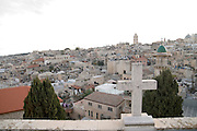 Israel, Jerusalem Old City, View of the city from the roof of the Austrian Hospice of the Holy Family