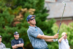 May 4, 2019 - Charlotte, NC, U.S. - CHARLOTTE, NC - MAY 04: Seamus Power hits from the 4th hole tee box  during the third round of the Wells Fargo Championship at Quail Hollow on May 4, 2019 in Charlotte, NC. (Photo by William Howard/Icon Sportswire) (Credit Image: © William Howard/Icon SMI via ZUMA Press)