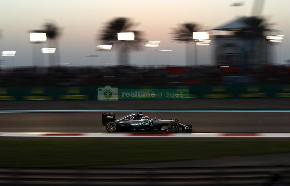 Mercedes' Lewis Hamilton during the Abu Dhabi Grand Prix at the Yas Marina Circuit, Abu Dhabi.