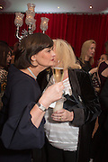 CHERIE BLAIR; JUDY FINNIGAN; Pre -drinks at the St. Martin's Lane Hotel before a performance of the English National Ballet's Nutcracker: London Coliseum.12 December 2013