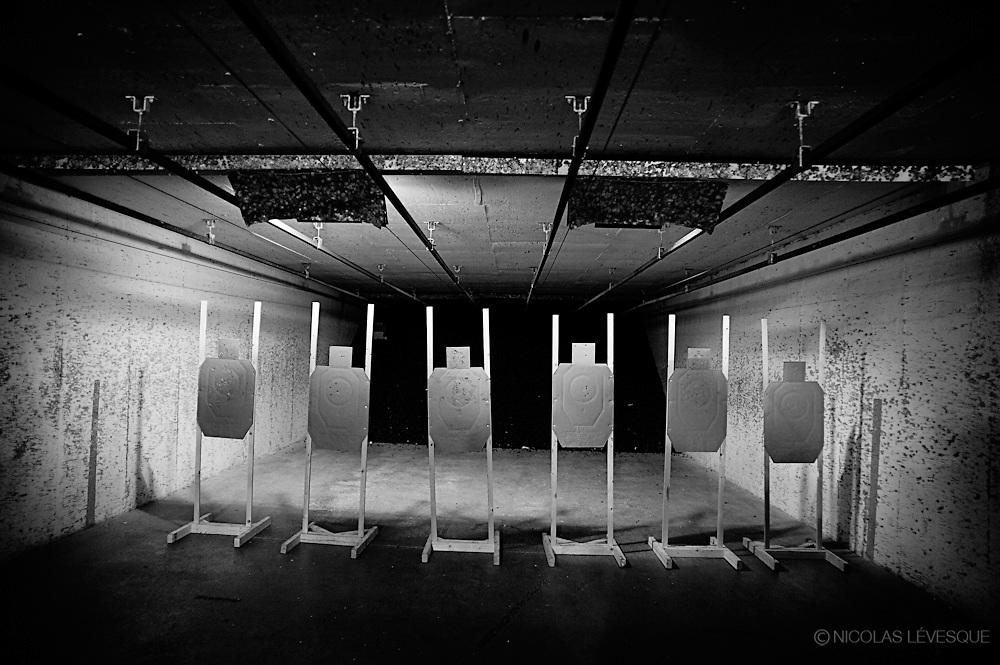 Compétition de pistolet défensif, organisé par le IDPA: International defensive pistol association. Norcross, USA.