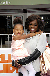 Genesis Tennon and Viola Davis during the premiere of the new movie from 20th Century Fox and Dreamworks Animation HOME, held at the Regency Village Theatre, on March 22, 2015, in Los Angeles.<br />