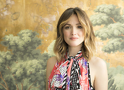 April 18, 2017 - New York, New York, U.S. - ROSE BYRNE promotes 'The Immortal Life of Henrietta Lacks' Mary Rose Byrne (born July 24, 1979) is an Australian actress. Byrne made her screen debut in 1992 with a small role in the film Dallas Doll. In 2000, she played a leading role in the Australian film The Goddess of 1967, which brought her a Venice Film Festival award for Best Actress. From 2007 to 2012, she played Ellen Parsons in the cable television series Damages, which earned her two Golden Globe and two Emmy nominations. Byrne has also starred in the films Troy, 28 Weeks Later, Knowing, Insidious, X-Men: First Class, X-Men: Apocalypse, Get Him to the Greek, Bridesmaids, Neighbors, Neighbors 2: Sorority Rising and Spy, Peter Rabbit (2018), The Immortal Life of Henrietta Lacks (TV Movie 2017), Naked (2017).  (Credit Image: © Armando Gallo via ZUMA Studio)