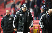 Cardiff City Manager, Russell Slade after the game during the Sky Bet Championship match between Charlton Athletic and Cardiff City at The Valley, London, England on 13 February 2016. Photo by Matthew Redman.