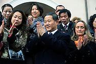 Roma 26 Gennaio 2009.Festeggiamenti per il Capodanno Cinese 2009 al quartiere Esquilino..L'Ambasciatore della Repubblica Popolare Cinese in Italia Sun Yuxi.Ambassador of the China in Italy Sun Yuxi