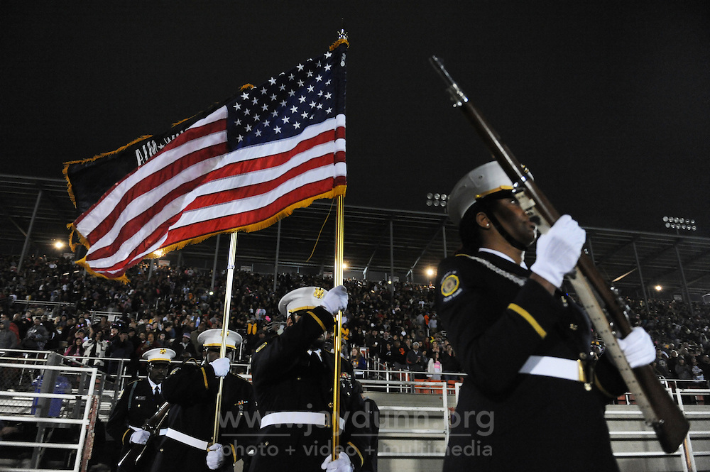 The colors make their entrance to Monday evening's July 4th celebrations at the Salinas Sports Complex.