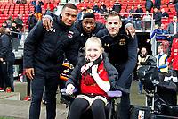 supporter of AZ with Levi Garcia of AZ Alkmaar, Fred Friday of AZ Alkmaar, Mats Seuntjes of AZ Alkmaar