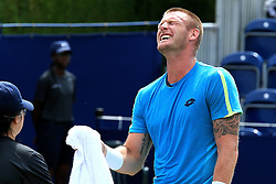 Sam Groth of Australia reacts - Mandatory by-line: Matt McNulty/JMP - 31/05/2016 - TENNIS - Northern Tennis Club - Manchester, United Kingdom - AEGON Manchester Trophy