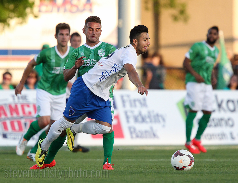 May 10, 2014: The OKC Energy FC play the Orange County Blues FC in a USL Pro game at Pribil Stadium in Oklahoma City, Oklahoma.