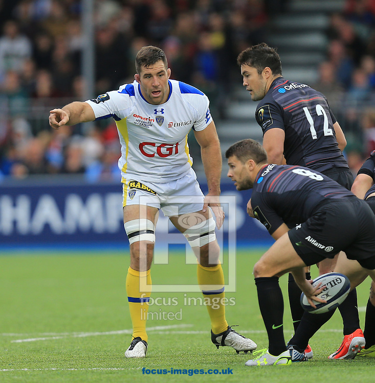 Jamie Cudmore of Clermont Auvergne during the European Rugby Champions Cup match at Allianz Park, London<br /> Picture by Michael Whitefoot/Focus Images Ltd 07969 898192<br /> 18/10/2014