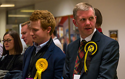 Pictured: Leith Walk Council By-Election. Edinburgh City Council, Edinburgh, Scotland, 11 April 2019. Pictured:  Rob Munn, Scottish National Party (SNP) candidate. 25,526 residents are registered to vote in one of the most densely populated areas in Scotland under the Single Transferable Vote (STV) system. This is the first time in Scotland that an STV by-election has been needed to fill two vacancies in the same ward, held as a result of the resignation of Councillor Marion Donaldson. The election fielded 11 candidates, including the first ever candidate for the For Britain Movement in Scotland, Paul Stirling, founded by former UKIP leadership candidate Anne Marie Waters in March 2018.<br /> <br /> Sally Anderson | EdinburghElitemedia.co.uk