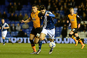 Hull City midfielder Jake Livermore chases Birmingham City midfielder Jon Toral during the Sky Bet Championship match between Birmingham City and Hull City at St Andrews, Birmingham, England on 3 March 2016. Photo by Alan Franklin.