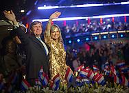 Amsterdam-05-05-2016 <br /> <br /> King Willem-Alexander and Queen Maxima attend the Liberation Concert.<br /> <br /> COPYRIGHT/Royalportraits Europe/BERNARD RUEBSAMEN