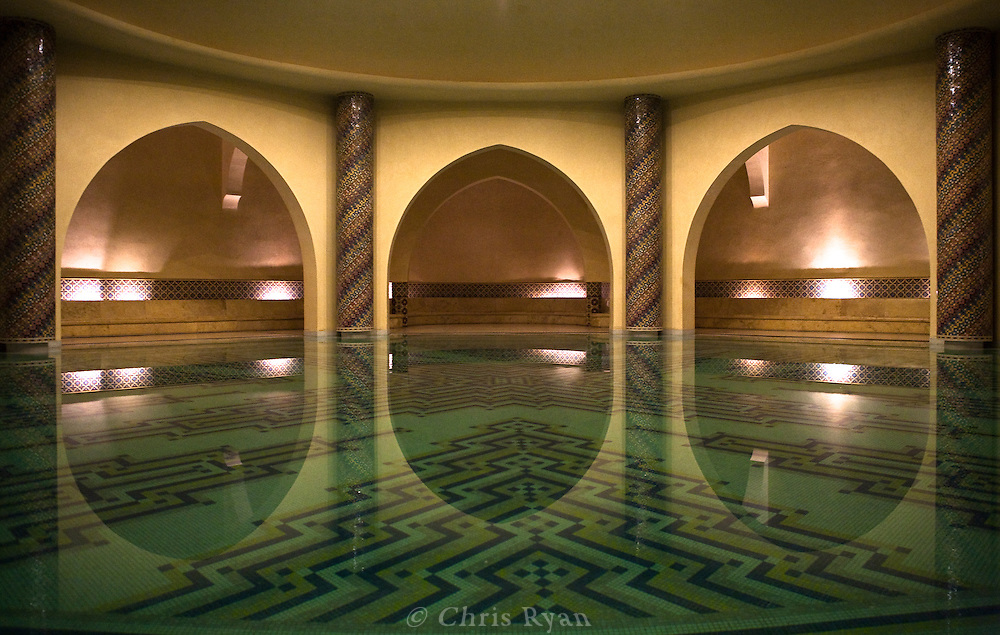 Public baths at the Hassan II Mosque, Casablanca, Morocco