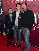 2019, December 01. Pathe ArenA, Amsterdam, the Netherlands. Roman Derwig and Jacob Derwig at the dutch premiere of The Addams Family.