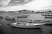 Fishermen's boats at Guánica bay