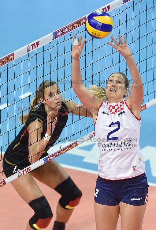 06-01-2016 TUR: European Olympic Qualification Tournament Duitsland - Kroatie, Ankara<br /> Duitsland verslaat Kroatie en moet wachten op Nederland om te zien of ze doorgaan / Ana Grbac #2