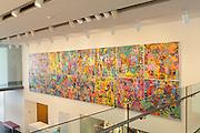 Ryan McGuinness commision art in atrium