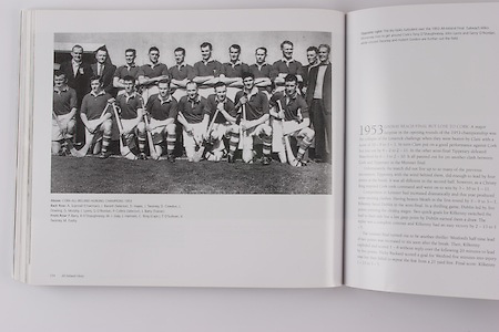 Cork All-Ireland Hurling Champions 1953. Back Row: A Scannell (Chairman), J Barrett ( Selector), D Hayes, J Twomey, D Creedon, L Dowling, G Murphy, J Lyons, G O'Riordan, P Collins (Selector), J Barry (Trainer). Front Row: P Barry, A O'Shaughnessy, W J Daly, J Hartnett, C Ring (capt), T O'Sullivan, V Twomey, M Fuohy.