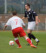 Stephen O'Donnell and Stirling's Nathan Taggart - Stirling Albion v Dundee, IRN BRU Scottish League 1st Division, Forthbank Stadium, Stirling<br /> <br />  - © David Young<br /> ---<br /> email: david@davidyoungphoto.co.uk<br /> http://www.davidyoungphoto.co.uk