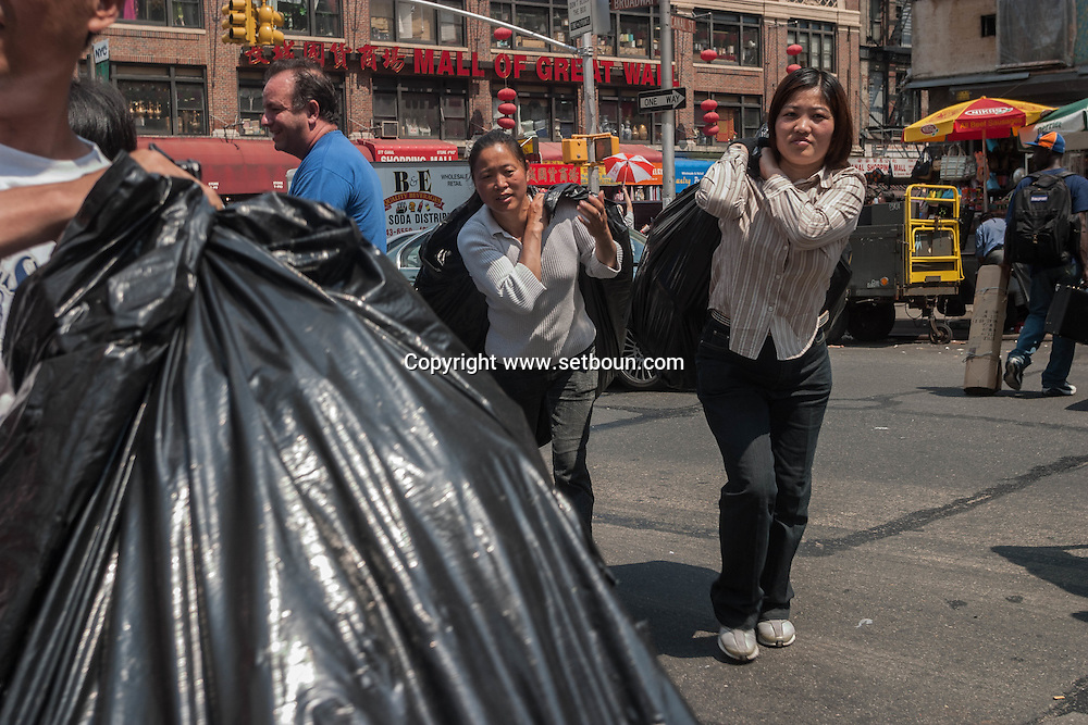 New York, Canal street chinatown sellers of counterfeit luxury goods