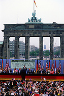 """A 30 MG IMAGE OF:..President Reagan makes  speech """"Tear down this Wall"""" in Berlin in June 1987...Photo by Dennis Brack R F"""