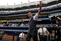 September 10, 2009; Bronx, NY; USA; Miguel Cotto enters the press conference at Yankee Stadium announcing November 14, 2009 fight against Manny Pacquiao.  The two will meet at the MGM Grand Garden Arena in Las Vegas, NV.