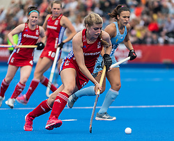 Sarah Evans of Great Britain Women during the 2019 Women's FIH Pro League match at Lee Valley Hockey Centre, Stratford<br /> Picture by Simon Parker/Focus Images Ltd <br /> 18/05/2019