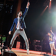 COLUMBIA, MD - May 11th,  2013 -   Michael Angelakos  and Jeff Apruzzese of Passion Pit perform on the Main Stage at the 2013 Sweetlife Music and Food Festival at Merriweather Post Pavilion in Columbia, MD.  (Photo by Kyle Gustafson/For The Washington Post)