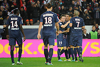 FOOTBALL - FRENCH CHAMPIONSHIP 2012/2013 - L1 - PARIS SAINT GERMAIN v STADE DE REIMS  - 20/10/2012 - PHOTO JEAN MARIE HERVIO / REGAMEDIA / DPPI - JOY PSG AFTER THE KEVIN GAMEIRO'S GOAL