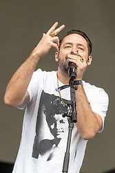May 25, 2018 - Napa, California, U.S - JOSH CARTER of Phantogram during BottleRock Music Festival at Napa Valley Expo in Napa, California (Credit Image: © Daniel DeSlover via ZUMA Wire)