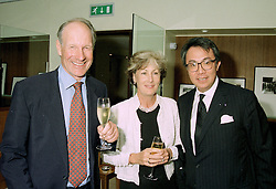 Left to right, MR & MRS CHARLES PALMER-TOMKINSON family friends of the Prince of Wales and MR DAVID TANG the Hong Kong multi millionaire, at a party in London on 11th June 1997.LZG 44
