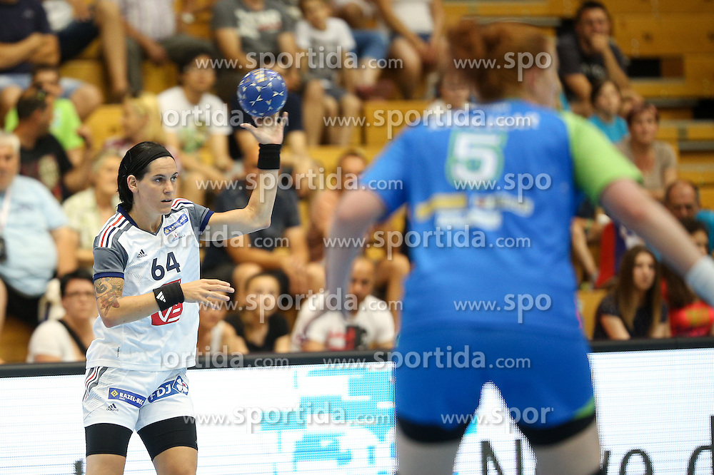 Alexandra Lacrabere of France during handball match between National Teams of Slovenia and France in Qualification of 2016 Women's European Championship, on June 13th, in Rdeca Dvorana, Velenje. Photo by Morgan Kristan / Sportida
