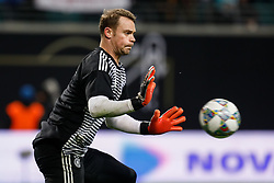 November 15, 2018 - Leipzig, Germany - Manuel Neuer of Germany in action during the warm-up ahead of the international friendly match between Germany and Russia on November 15, 2018 at Red Bull Arena in Leipzig, Germany. (Credit Image: © Mike Kireev/NurPhoto via ZUMA Press)