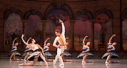 The Mariinsky Ballet <br /> Mixed Bill <br /> at The Royal Opera House Covent Garden, London, Great Britain <br /> 8th August 2017 <br /> <br /> Grand Pas From Paquita<br /> <br /> Viktoria Tereshkina as Paquita<br /> <br /> Vladimir Shklyarov as Andre <br /> <br /> <br /> <br /> <br /> <br /> Photograph by Elliott Franks <br /> Image licensed to Elliott Franks Photography Services
