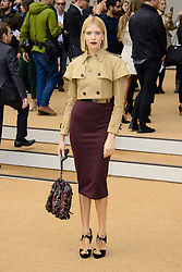 Arrivals for Burberry Prorsum Spring / Summer 2014. <br />  Leigh Lezark arrives for the Burberry Prorsum Spring / Summer 2014 show, London, United Kingdom. Monday, 16th September 2013. Picture by Chris Joseph / i-Images