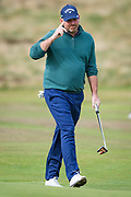 Thomas Bjorn of Denmark thanks the crowd during the British Masters 2018 at Walton Heath Golf Course, Walton On the Hill, Surrey on 12 October 2018. Picture by Martin Cole.