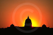 PA Capitol, Sunrise, Silhouette, Reflection, Susquehanna River, Harrisburg, PA