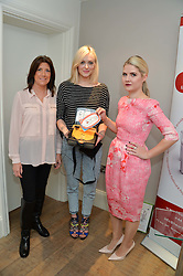 Left to right, TRUDIE LOBBAN, Founder of Arrhythmia Alliance FEARNE COTTON and SOPHIE GASS at a Valentine's charity event to raise heart awareness and support the charity Arrhythmia Alliance held at Sophie Gass, 4 Ladbroke Grove, London on 13th February 2014.