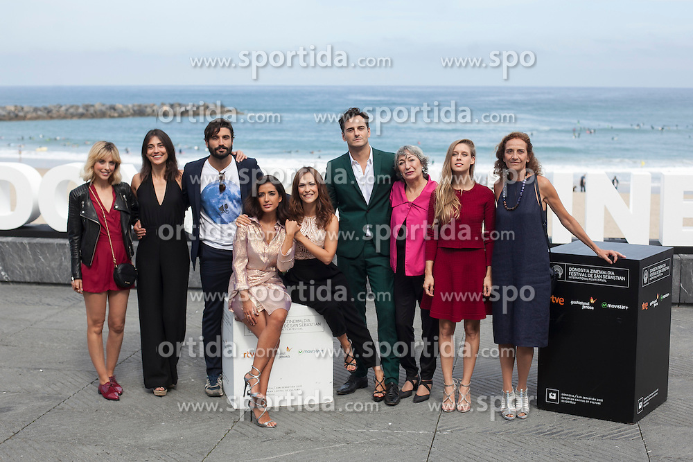 26.09.2015, Madrid, San Sebastian, ESP, San Sebastian International Film Festival, im Bild Paula Ortiz, Inma Cuesta, Asier Etxeandia, Alex Garcia, Leticia Dolera, Luisa Gavasa, Manuela Velles, Vero Moral and Consuelo Trujillo pose during `La novia&acute; (The Bride) film presentation // at 63rd Donostia Zinemaldia, San Sebastian International Film Festival in Madrid in San Sebastian, Spain on 2015/09/26. EXPA Pictures &copy; 2015, PhotoCredit: EXPA/ Alterphotos/ Victor Blanco<br /> <br /> *****ATTENTION - OUT of ESP, SUI*****