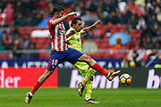 Atletico Madrid's Spanish forward Diego Costa controls the ball during the Spanish Championship Liga football match between Atletico Madrid and Getafe on January 6, 2018 at the Wanda Metropolitano stadium in Madrid, Spain - Photo Benjamin Cremel / ProSportsImages / DPPI