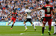 Joey Barton of Queens Park Rangers takes a free kick during the Sky Bet Championship Play Off final at Wembley Stadium, London<br /> Picture by Andrew Tobin/Focus Images Ltd +44 7710 761829<br /> 24/05/2014