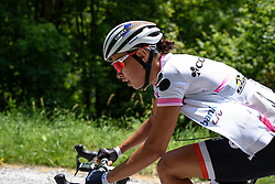 Kasia Niewiadoma battles on as Abbott and Stevens approach fast at Giro Rosa 2016 - Stage 6. A 118.6 km road race from Andora to Alassio, Italy on July 7th 2016.